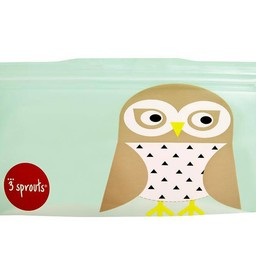 3 sprouts 3 Sprouts - Sacs à Collation/Snack Bags, Hibou/Owl