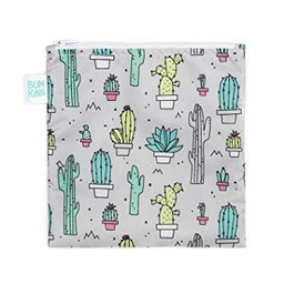 Bumkins Bumkins - Grand Sac à Collation Réutilisable/Large Reusable Snack Bag, Cactus
