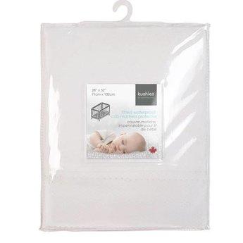 Kushies Kushies - Couvre-Matelas Filet Imperméable pour Lit de Bébé/Waterproof Mesh Crib Mattress Cover, Blanc/White