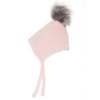 Beba Bean Beba Bean - Tuque à Pompon en Tricot/Crochet Knit Pompom Hat, Rose/Pink