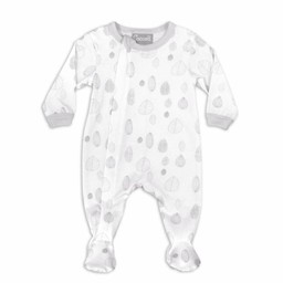 Coccoli Coccoli - Pyjama à Pattes en Jersey Modal/Modal Jersey Footie, Noix Grises/Grey Nut