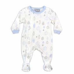 Coccoli Coccoli - Pyjama à Pattes en Jersey Modal/Modal Jersey Footie, Noix Bleues/Blue Nut