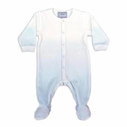 Coccoli Coccoli - Pyjama à Pattes en Velour/Velour Footie, Bleu Ombré/Blue Ombre