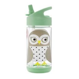 3 sprouts 3 Sprouts - Bouteille d'Eau/Water Bottle, Hibou/Owl
