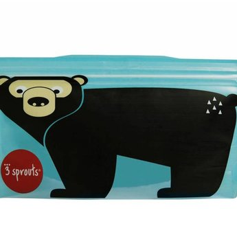 3 sprouts 3 Sprouts - Sacs à Collation/Snack Bags, Ours/Bear