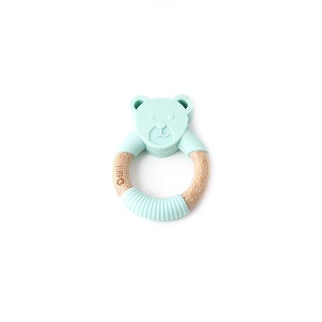 Bulle Bijouterie Bulle Bijouterie - Chew Rattle, Mint Bear
