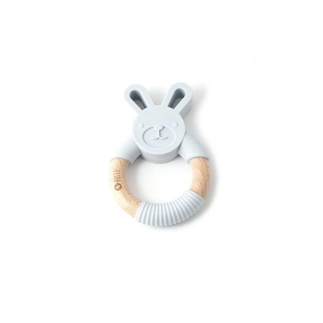 Bulle Bijouterie Bulle Bijouterie - Chew Rattle, Light Grey Rabbit