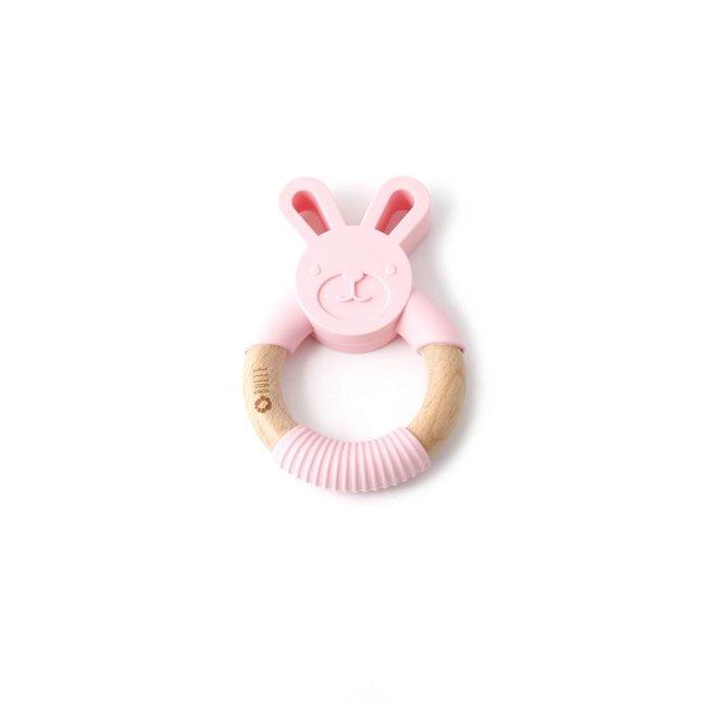 Bulle Bijouterie Bulle Bijouterie - Chew Rattle, Pink Rabbit