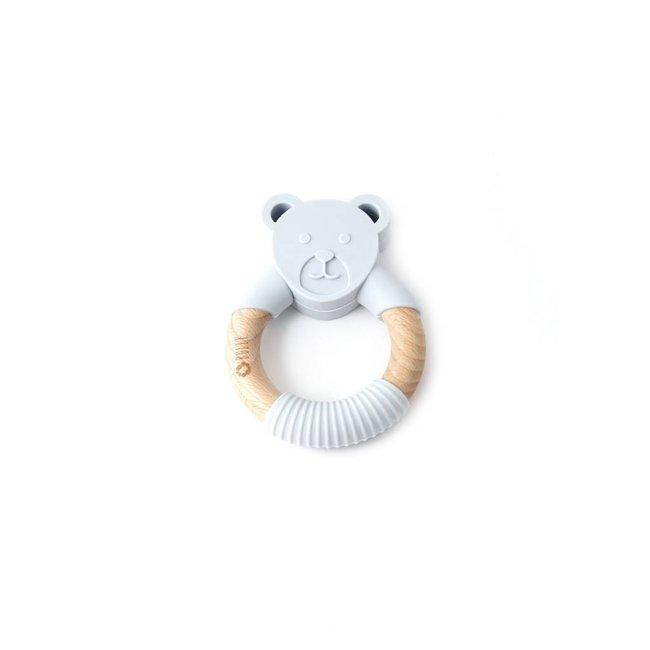 Bulle Bijouterie Bulle Bijouterie - Chew Rattle, Light Grey Bear