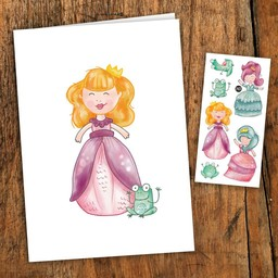 Pico Tatouages Temporaires Pico Tatoo - Carte de Souhait/Wish Card, Princesse/Princess