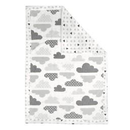 Perlimpinpin Perlimpinpin - Couverture en Peluche/Soft Blanket, Nuages/Clouds