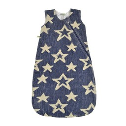 Perlimpinpin Perlimpinpin - Sac de Nuit en Chenille Étoiles Marine/Chenille Star Navy Sleep Bag