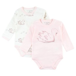 Fixoni Fixoni - Cache-Couches Cygne Hush/Hush Swan Body, Rose Doux/Soft Rose