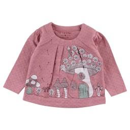 Fixoni Fixoni - Chandail Manches LonguesHush/Hush Long Sleeves T-Shirt, Rose Nostalgie/Nostalgia Rose