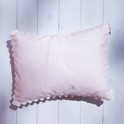 Bouton Jaune Bouton Jaune - Toi Moi Coco 10x13 Pillow Cover, Pink with Dots