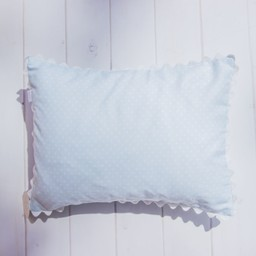 Bouton Jaune Bouton Jaune - Toi Moi Coco 10x13 Inches Pillow Cover, Blue with Dots