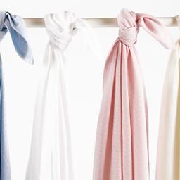 """Bouton Jaune Bouton Jaune - Couverture en Coton Organique 42po x 42po/42""""x42"""" Organic Cotton Blanket, Bleu/Blue"""