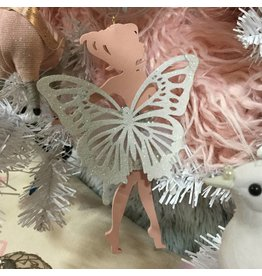 PINK AND WHITE FAIRY ORNAMENT