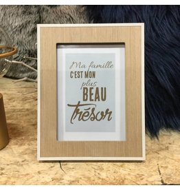 INSPIRING TEXT IN WOOD FRAME
