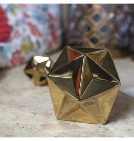 LARGE GOLD CERAMIC STAR