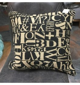 JUTE TYPOGRAPHY CUSHION