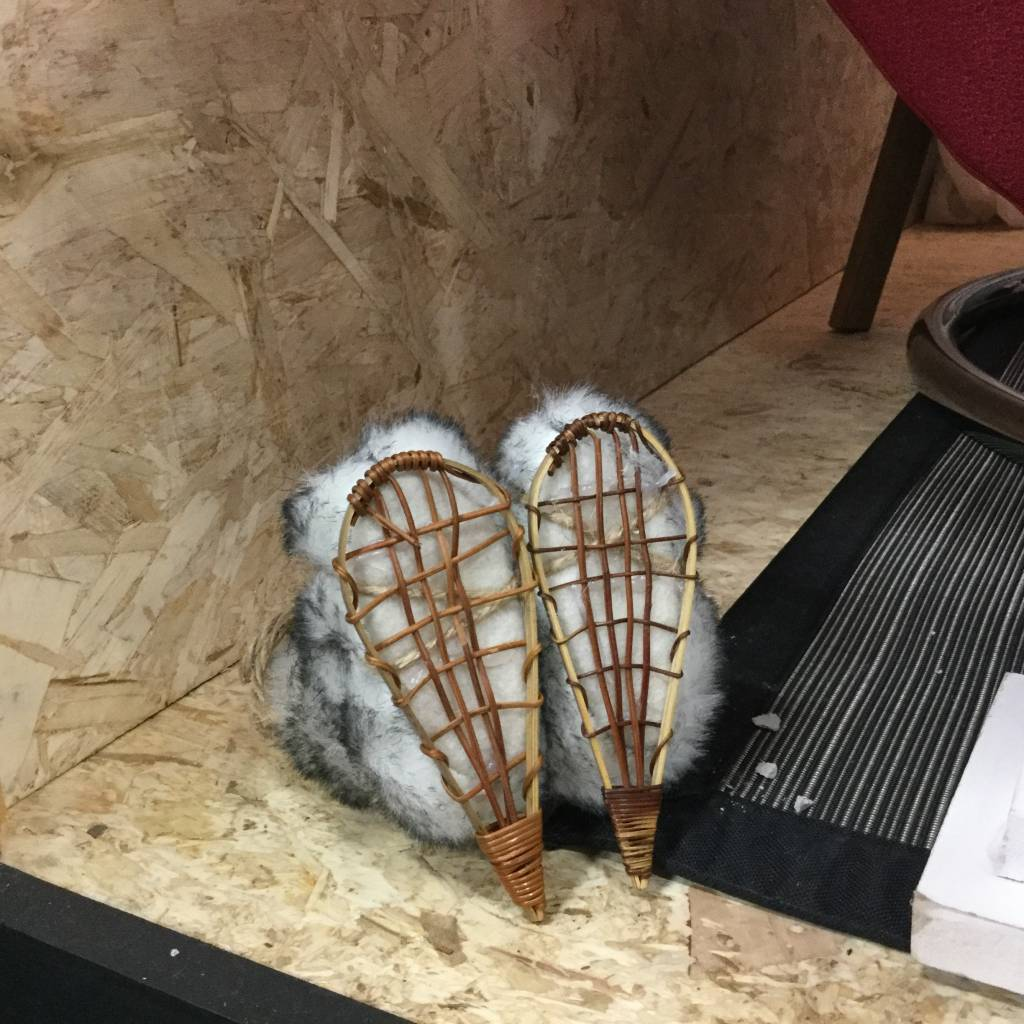 BOOTS AND SNOWSHOES ORNAMENT