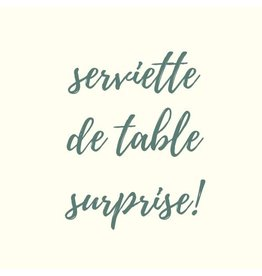 SERVIETTE DE TABLE PAPIER