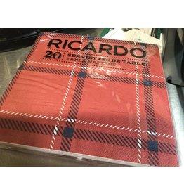 SERVIETTES DE PAPIER RICARDO