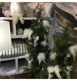 ILLUMINATED FIR TREE IN BURLAP