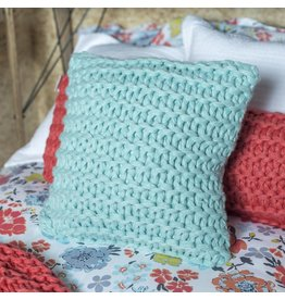 SQUARE DOROTHY PILLOW IN AQUA