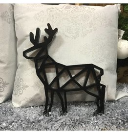BLACK WOODEN DEER