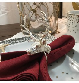 SET OF 4 DEER NAPKIN RINGS