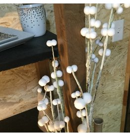 WHITE POMPOMS BRANCHES