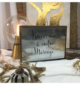 BIENVENUE À NOTRE MARIAGE PLAQUE