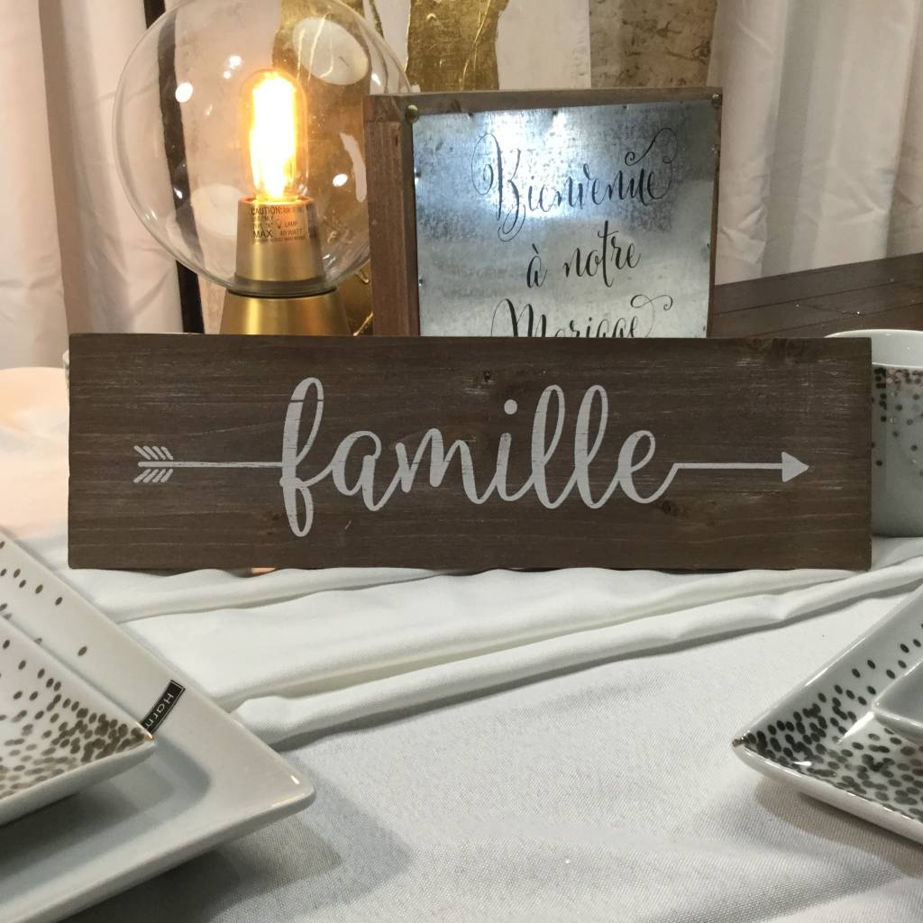 FAMILY RUSTIC WALL PLAQUE