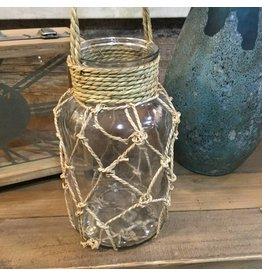 RUSTIC GLASS LANTERN