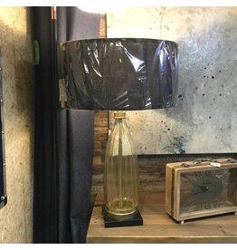 LAMPE EN VERRE CANNELÉ