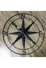 METAL WALL COMPASS