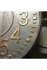 METAL CLOCK ON WALL BRACKET