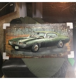 ART MURAL MUSCLE CAR