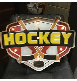 HOCKEY ILLUMINATED SIGN