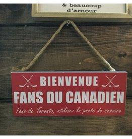 PLAQUE FANS DU CANADIEN