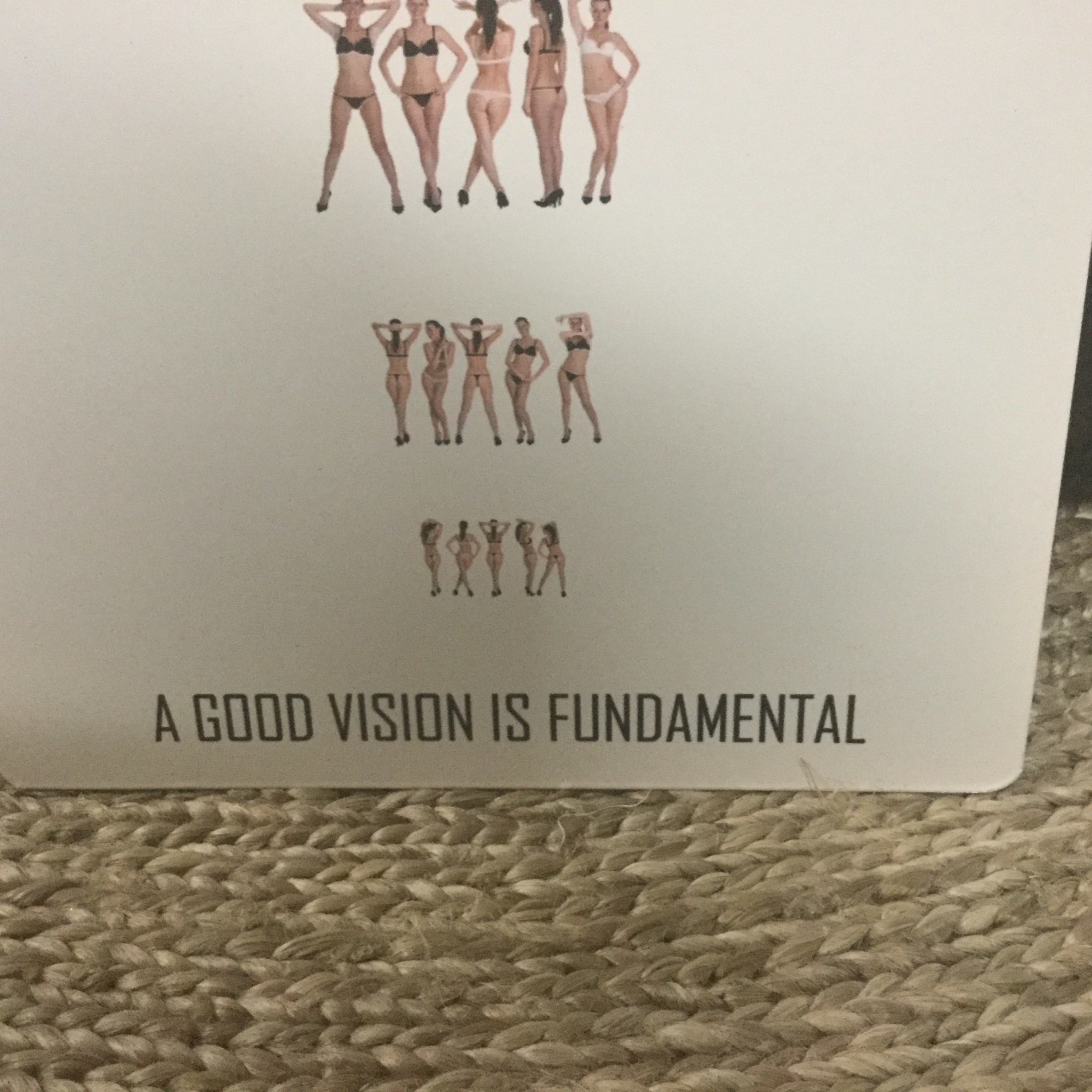 A GOOD VISION SIGN