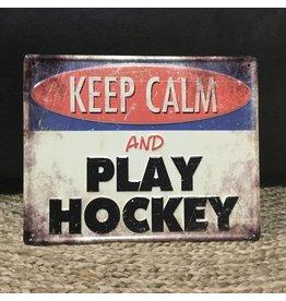 PLAQUE PLAY HOCKEY