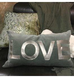 COUSSIN GRIS LOVE