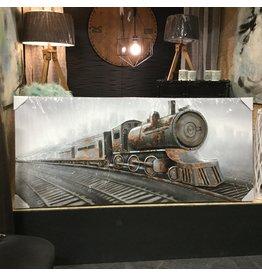 DOWNTOWN TRAIN WALL ART