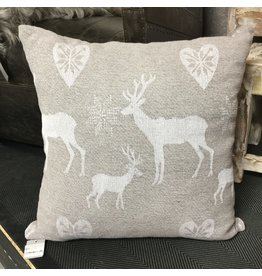 GREY DEER CUSHION