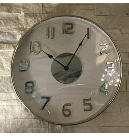 WHITE AND SILVER CLOCK