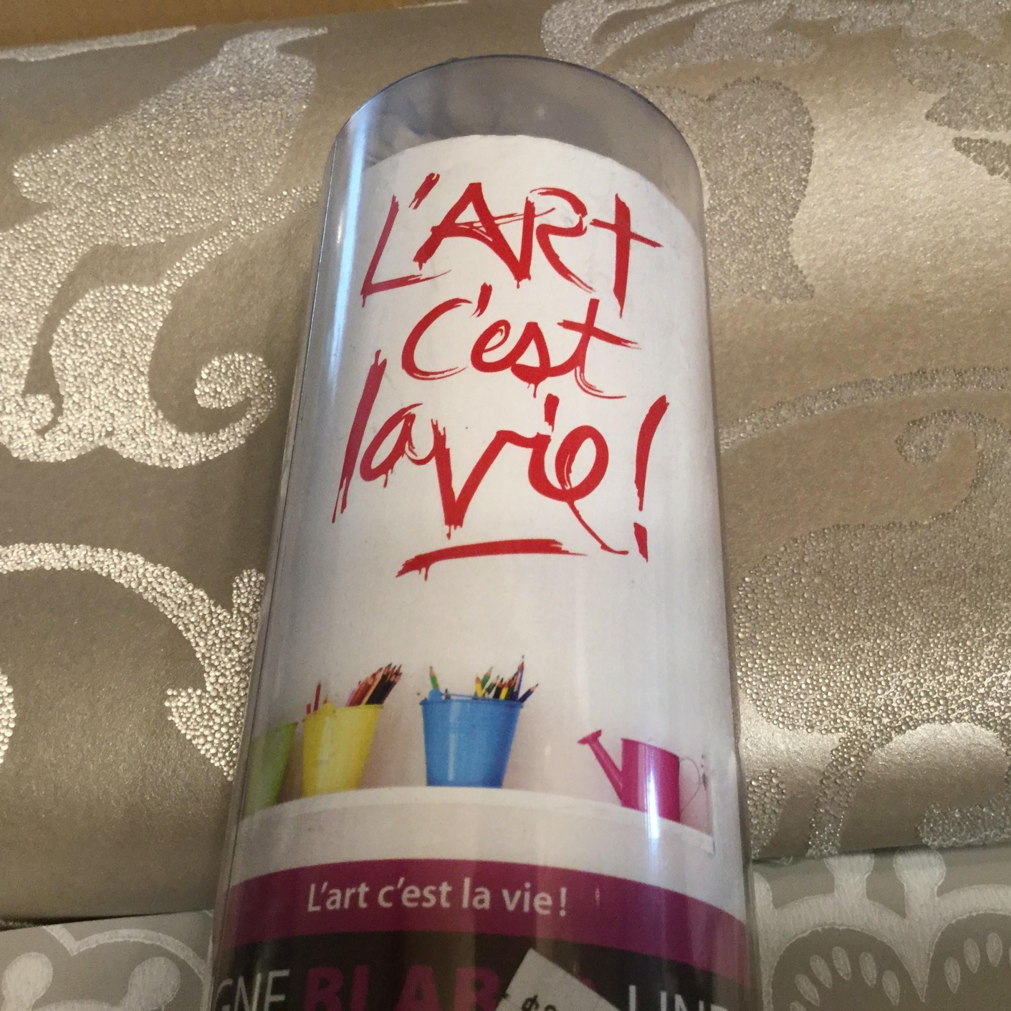 L'ART C'EST LA VIE AUTOCOLLANT MURAL