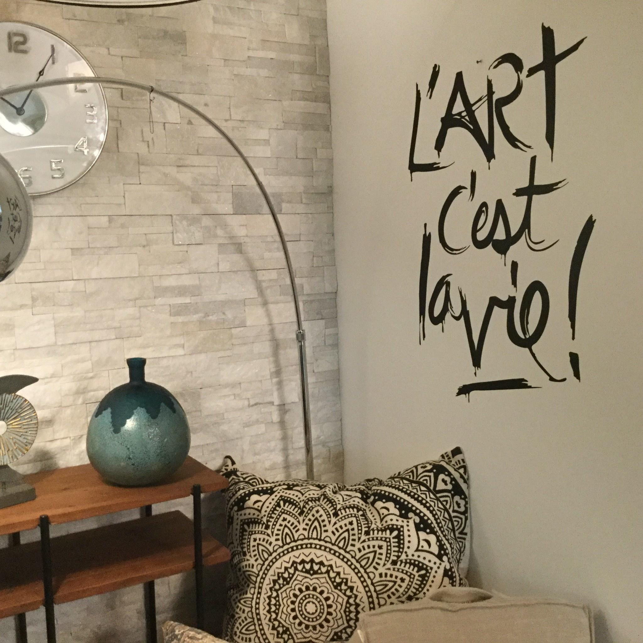 L'ART C'EST LA VIE WALL DECAL
